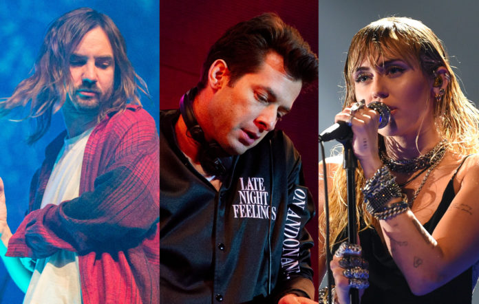 Mark Ronson Love Lockdown video mixtape livestream Tame Impala Miley Cyrus Dua Lipa