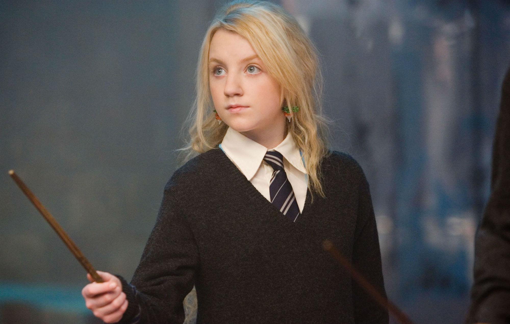 Evanna Lynch as Luna Lovegood in the 'Harry Potter' films