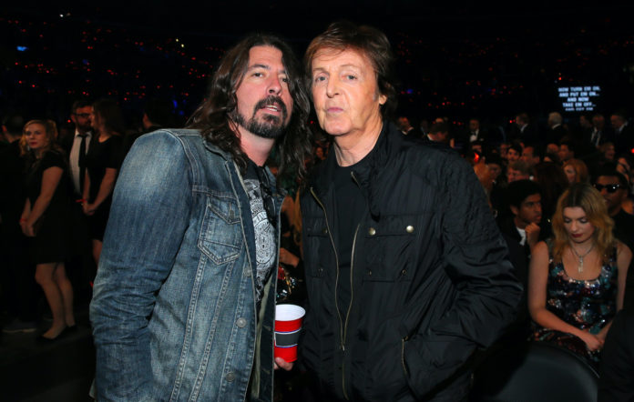 Dave Grohl and Paul McCartney both played in the Preservation Hall benefit show