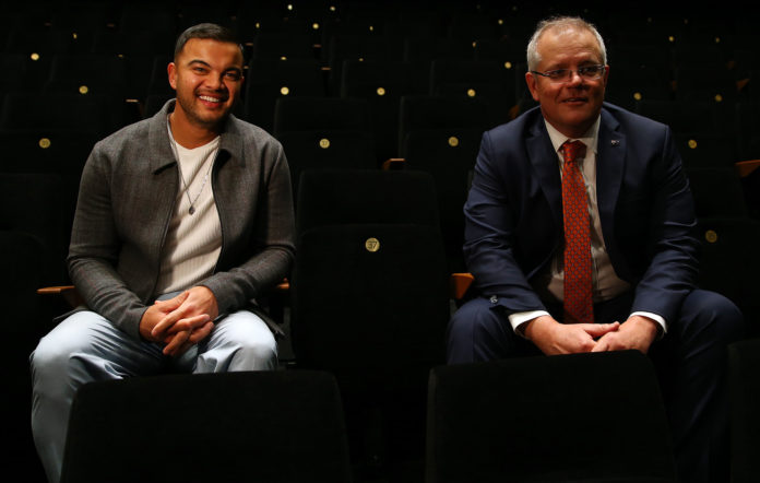 Guy Sebastian and Scott Morrison.