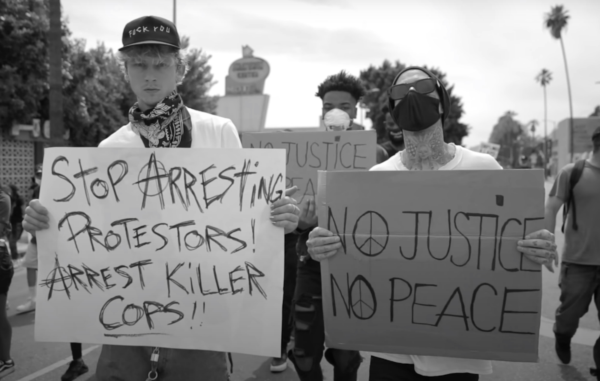 Machine Gun Kelly and Travis Barker cover of Rage Against The Machine's 'Killing In The Name' for Black Lives Matter