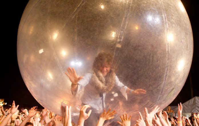 The Flaming Lips inside a bubble