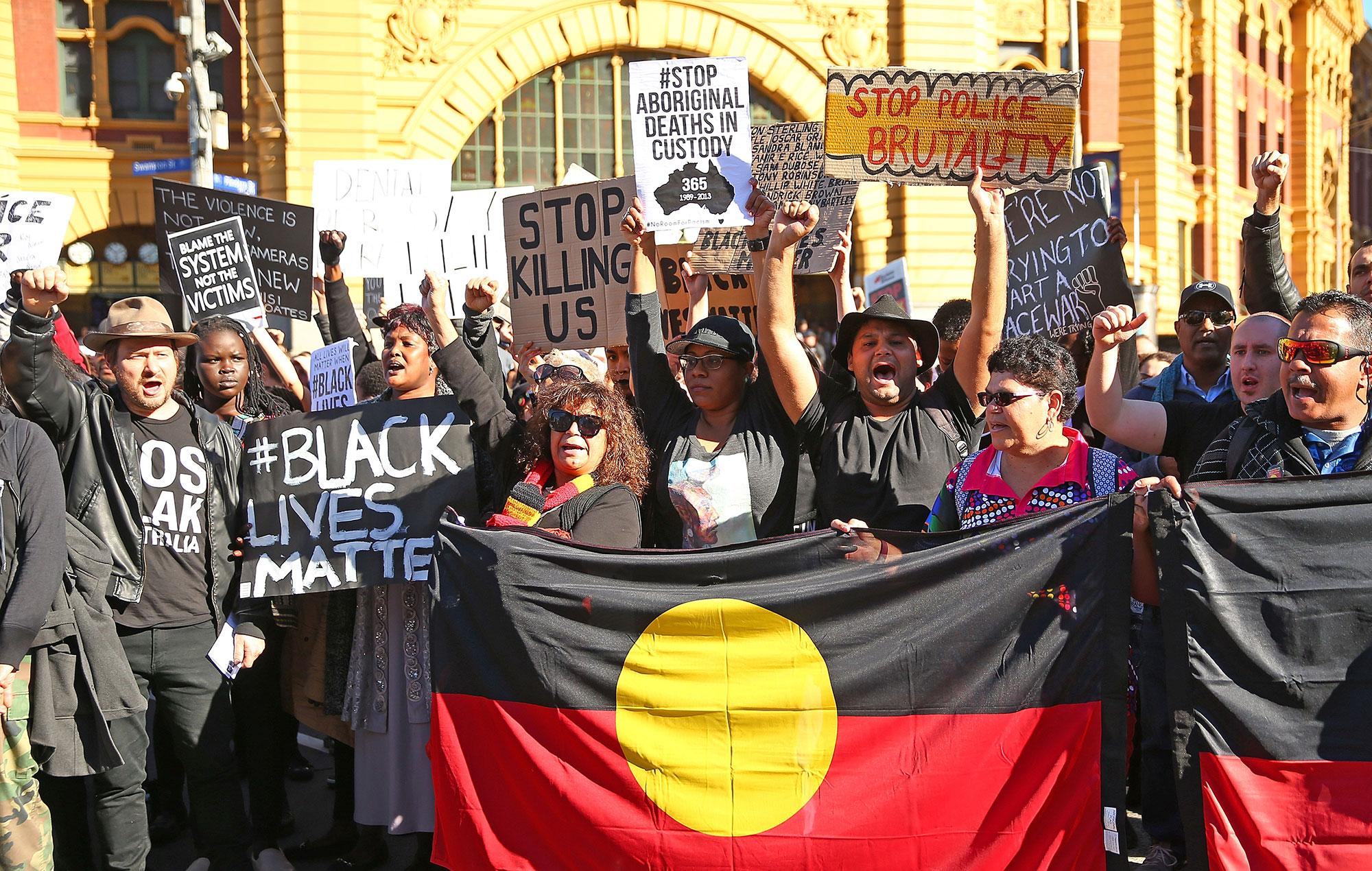 australia black lives matter protest 2016