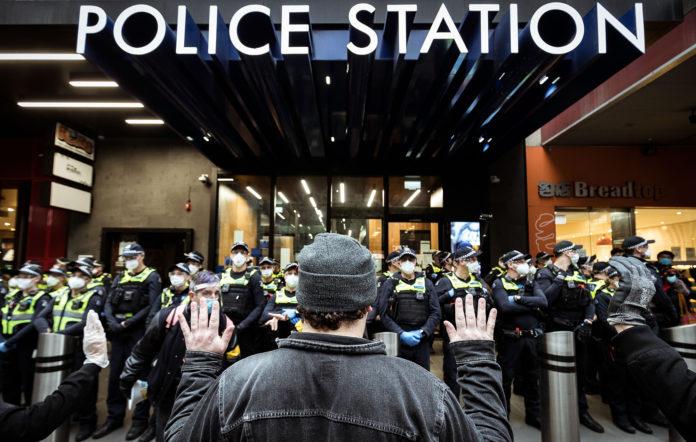australia police black lives matter protest