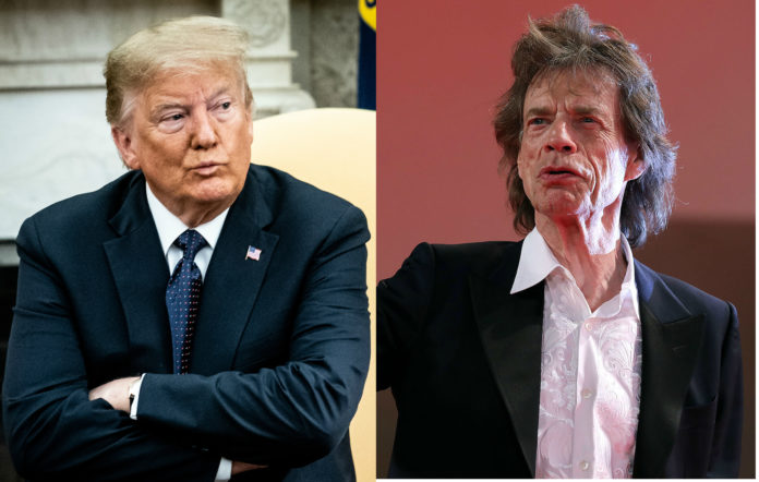 Donald Trump, The Rolling Stones, Mick Jagger