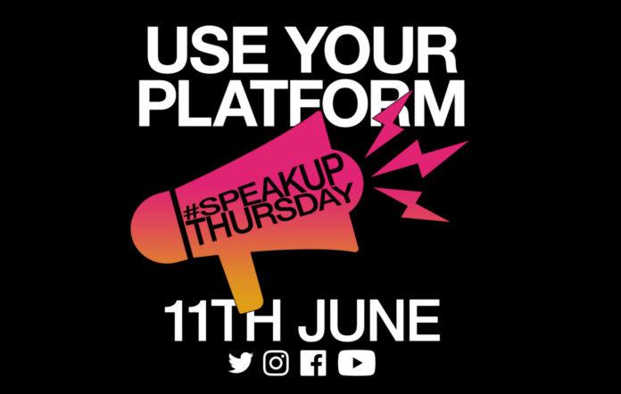 Love Music Hate Racism's 'Speak Up Thursday'