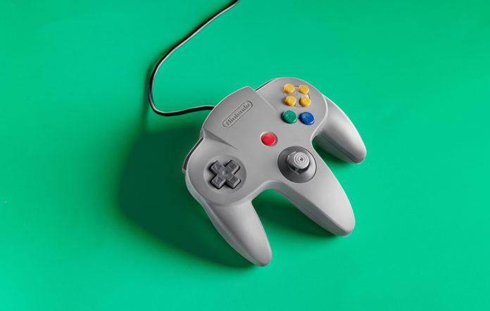 A Nintendo 64 controller