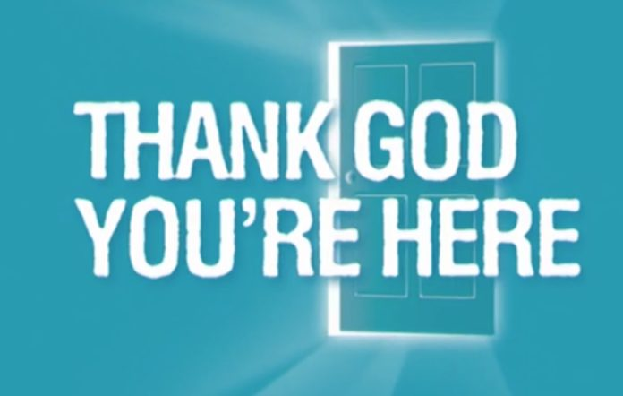 thank god you're here logo network 10