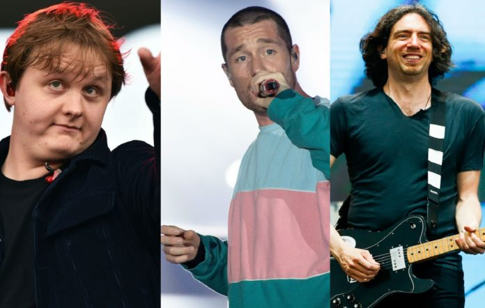 Lewis Capaldi, Dan Smith from Bastille and Gary Lightbody from Snow Patrol