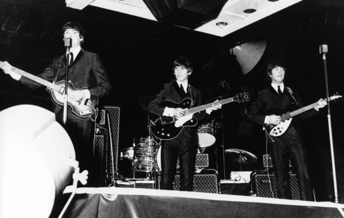 The Beatles performing live in Australia