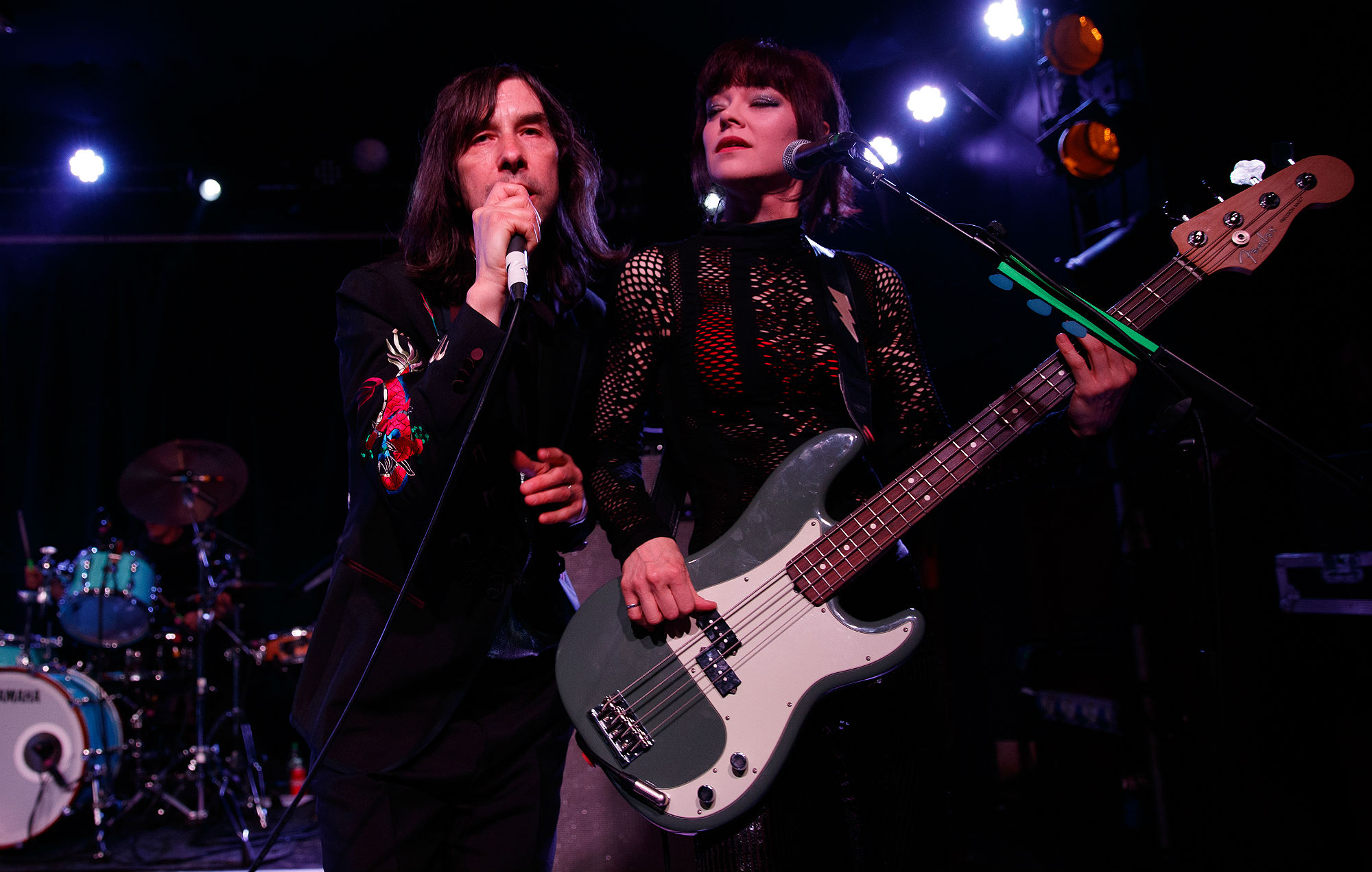 LONDON, ENGLAND - MAY 21: Bobby Gillespie and Simone Butler of Primal Scream perform onstage at Scala on May 21, 2019 in London, England. (Photo by Burak Cingi/Redferns)