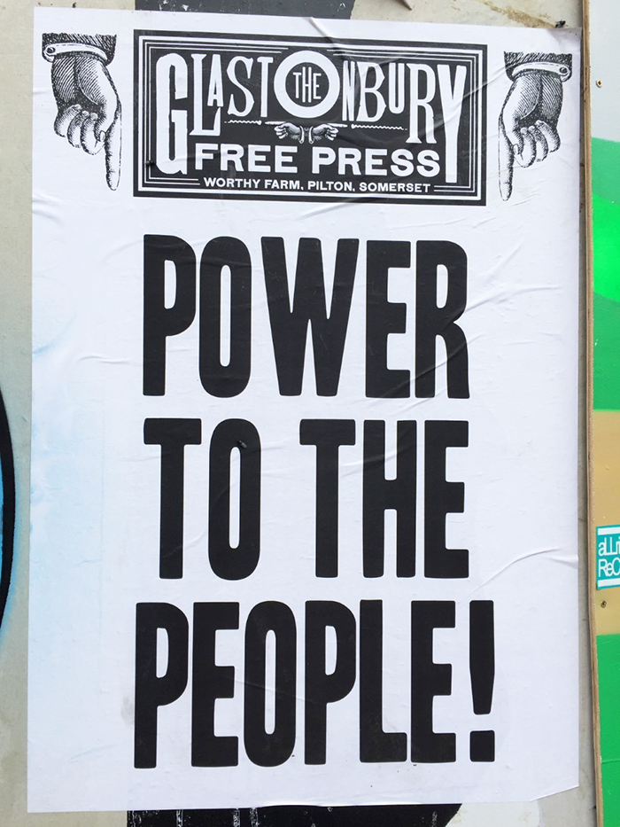 The festival's one-of-a-kind Free Press puts out a newspaper each day. Credit: Kate Bailey