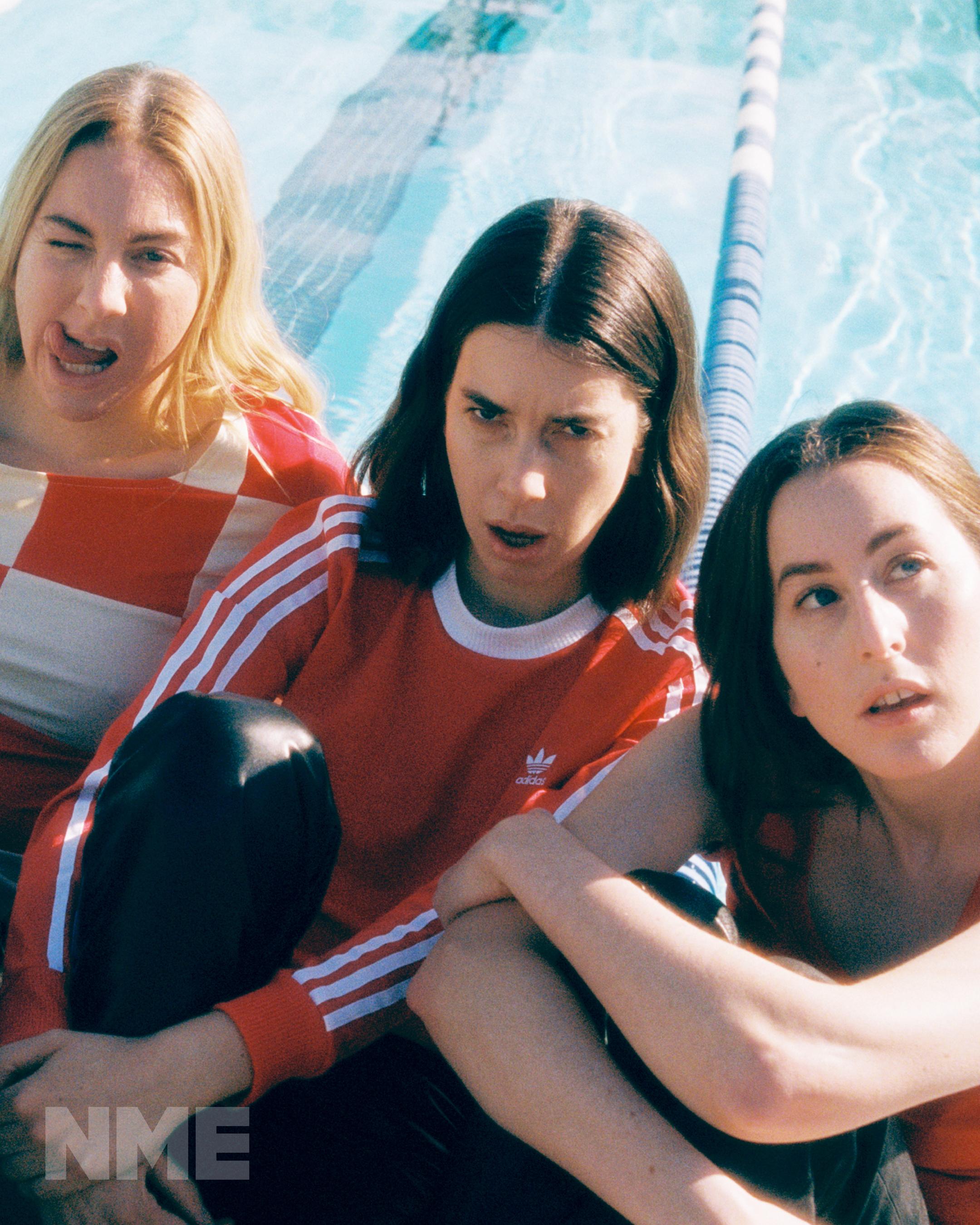 Haim shot for NME