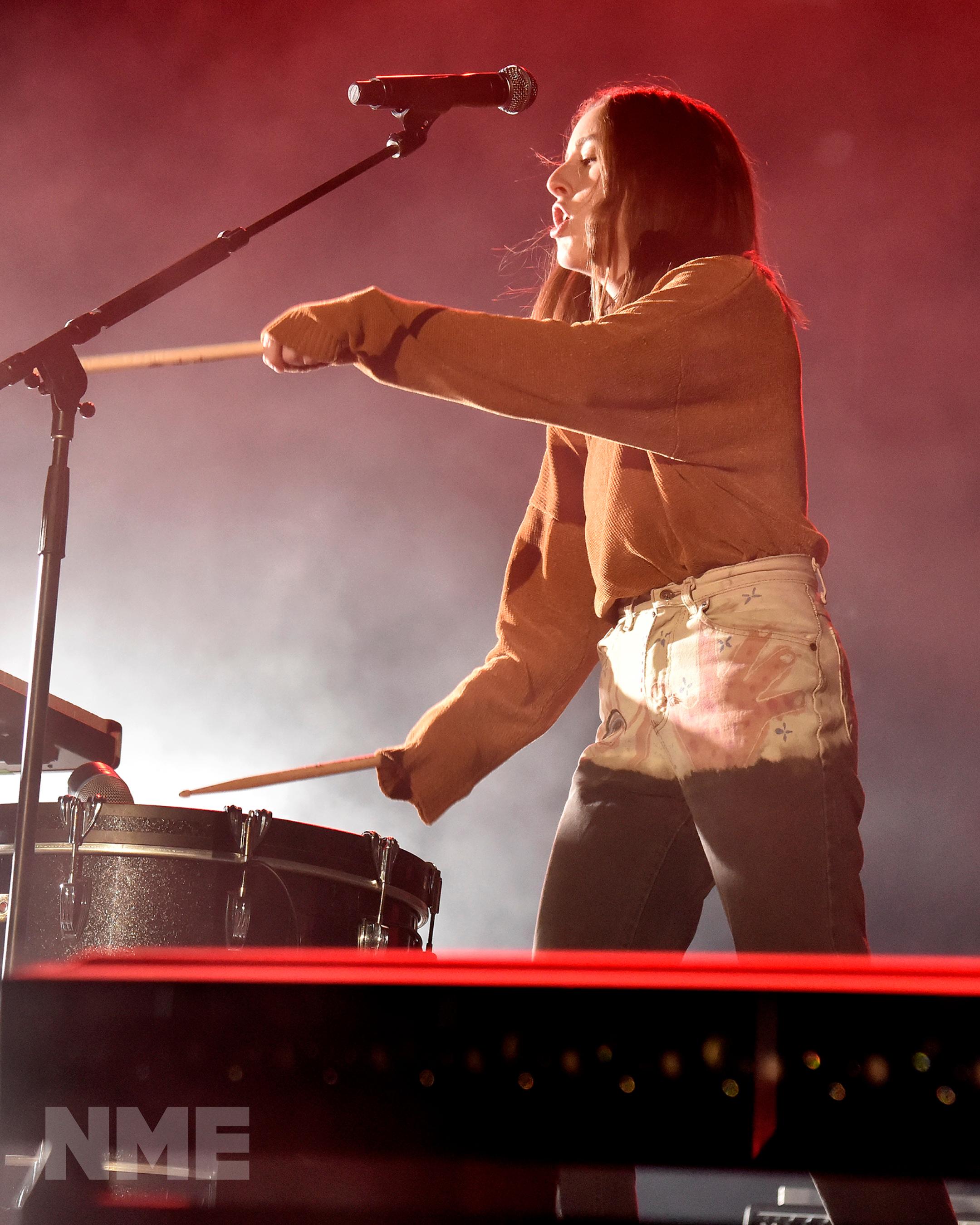 Haim performing live
