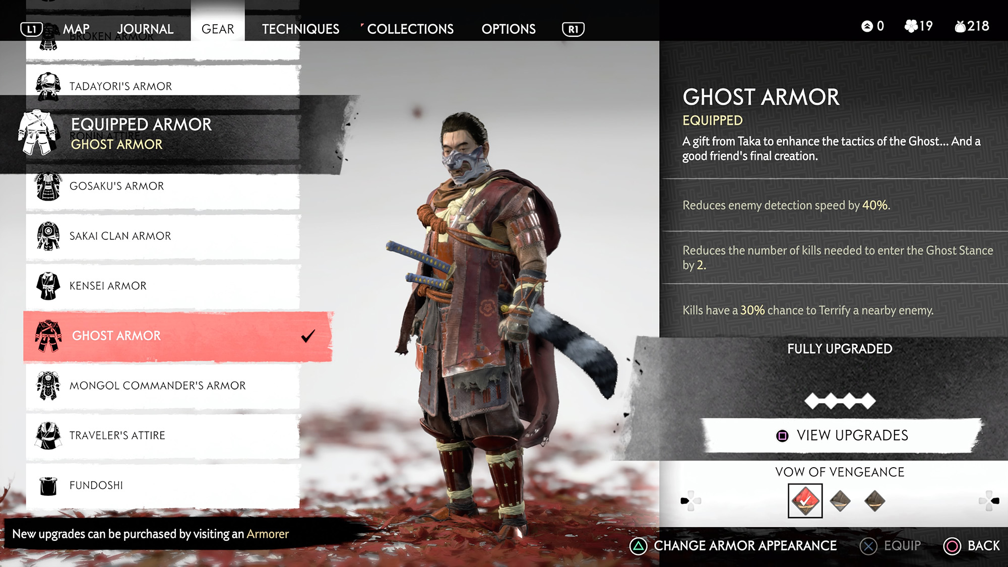 Ghost Of Tsushima Armours