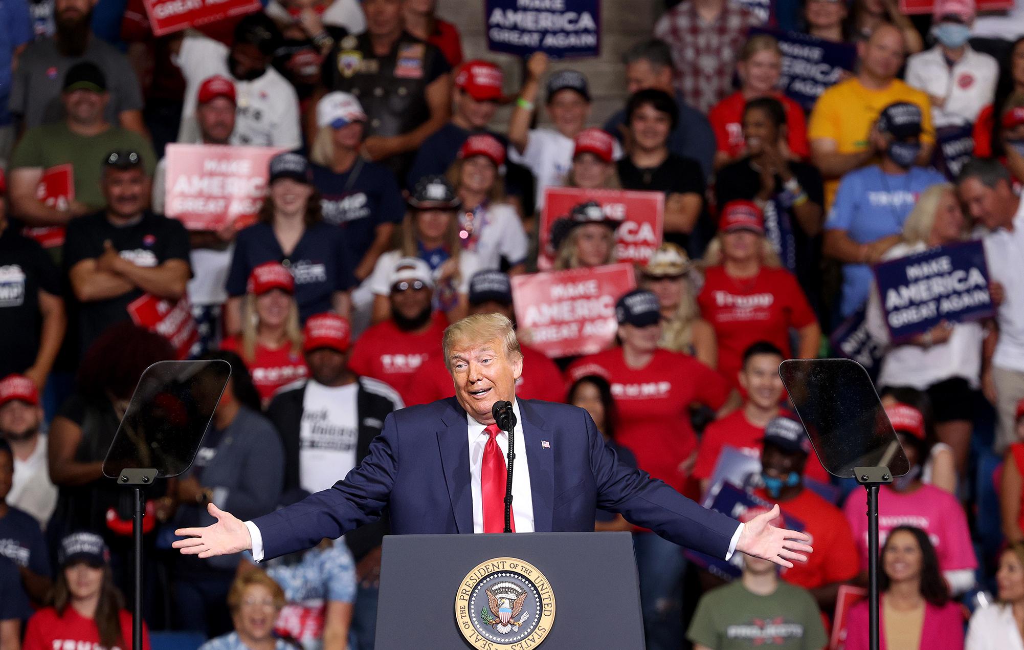 donald trump president rally tulsa rolling stones
