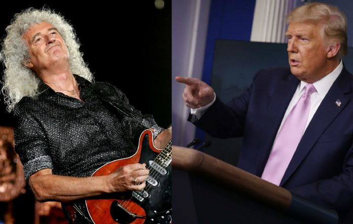 Brian May and Donald Trump