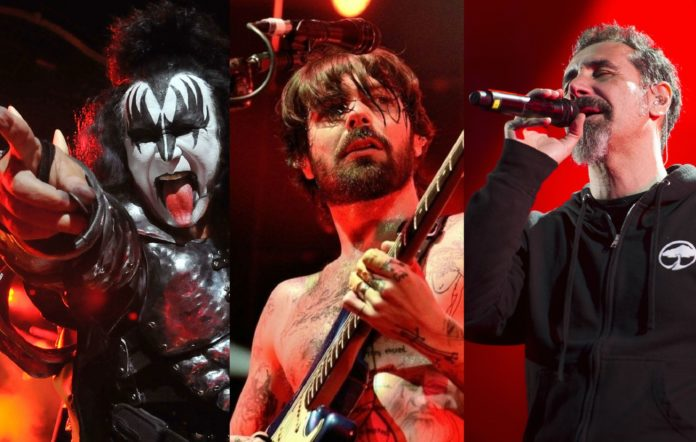 Kiss, Biffy Clyro and System Of A Down