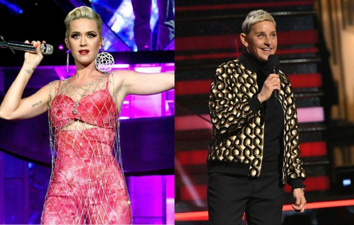 Katy Perry and Ellen De Generes