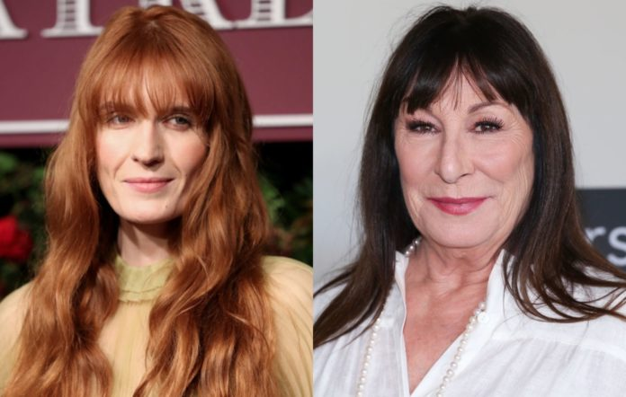 Florence Welch and Anjelica Huston