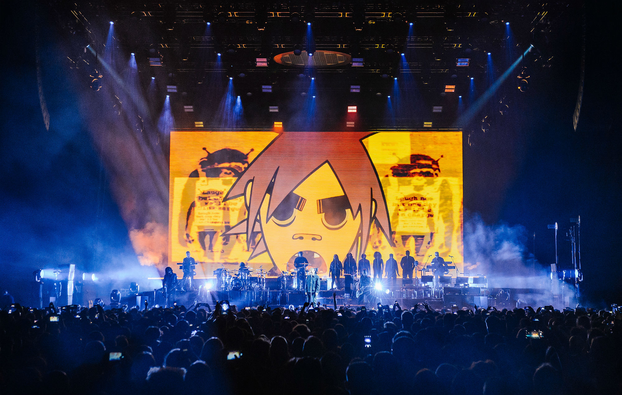 Gorillaz perform at The O2 Arena on December 5, 2017 in London, England. (Photo by Joseph Okpako/WireImage)
