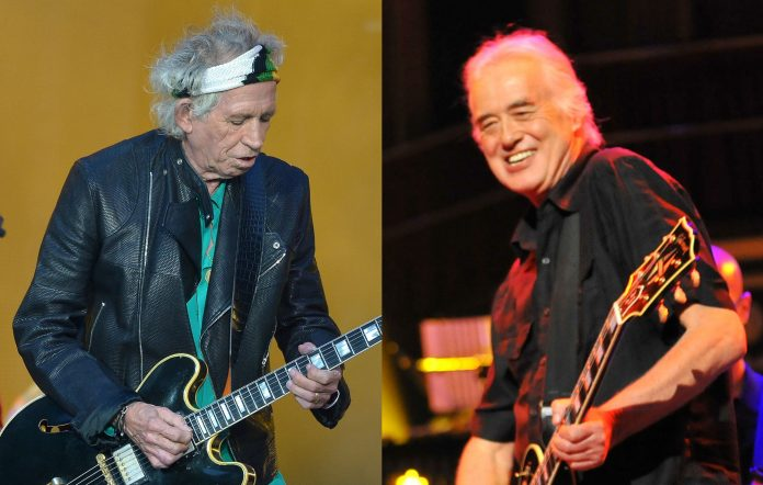 Rolling Stones Keith Richards' Jimmy Page