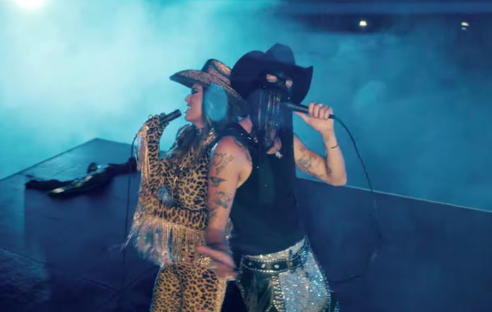 Orville Peck and Shania Twain in 'Legends Never Die' video