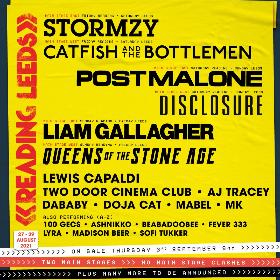 Reading & Leeds 2021 poster