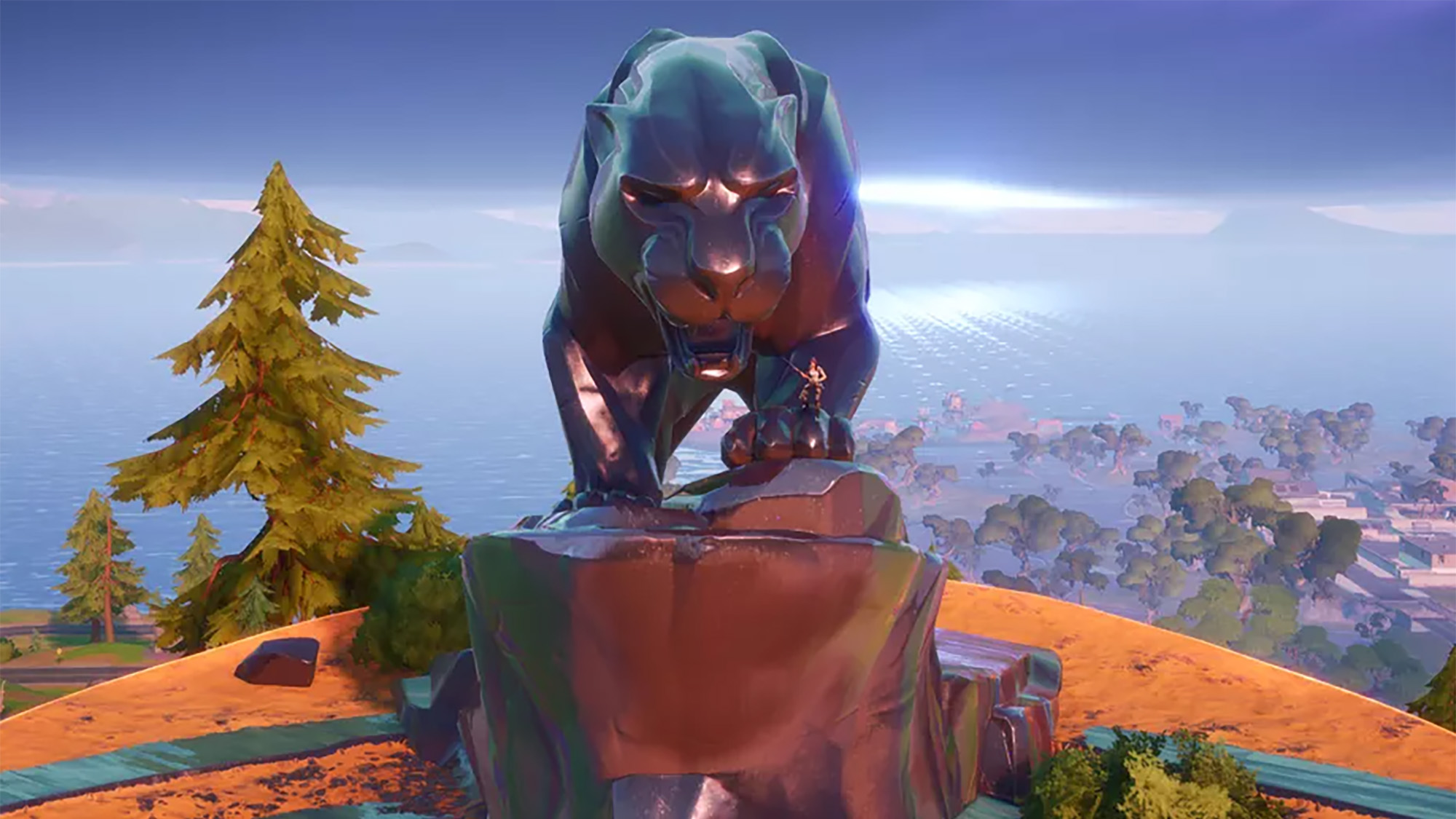 Black Panther Statue Fortnite