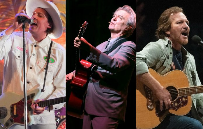 Arcade Fire's Win Butler, David Byrne and Pearl Jam's Eddie Vedder
