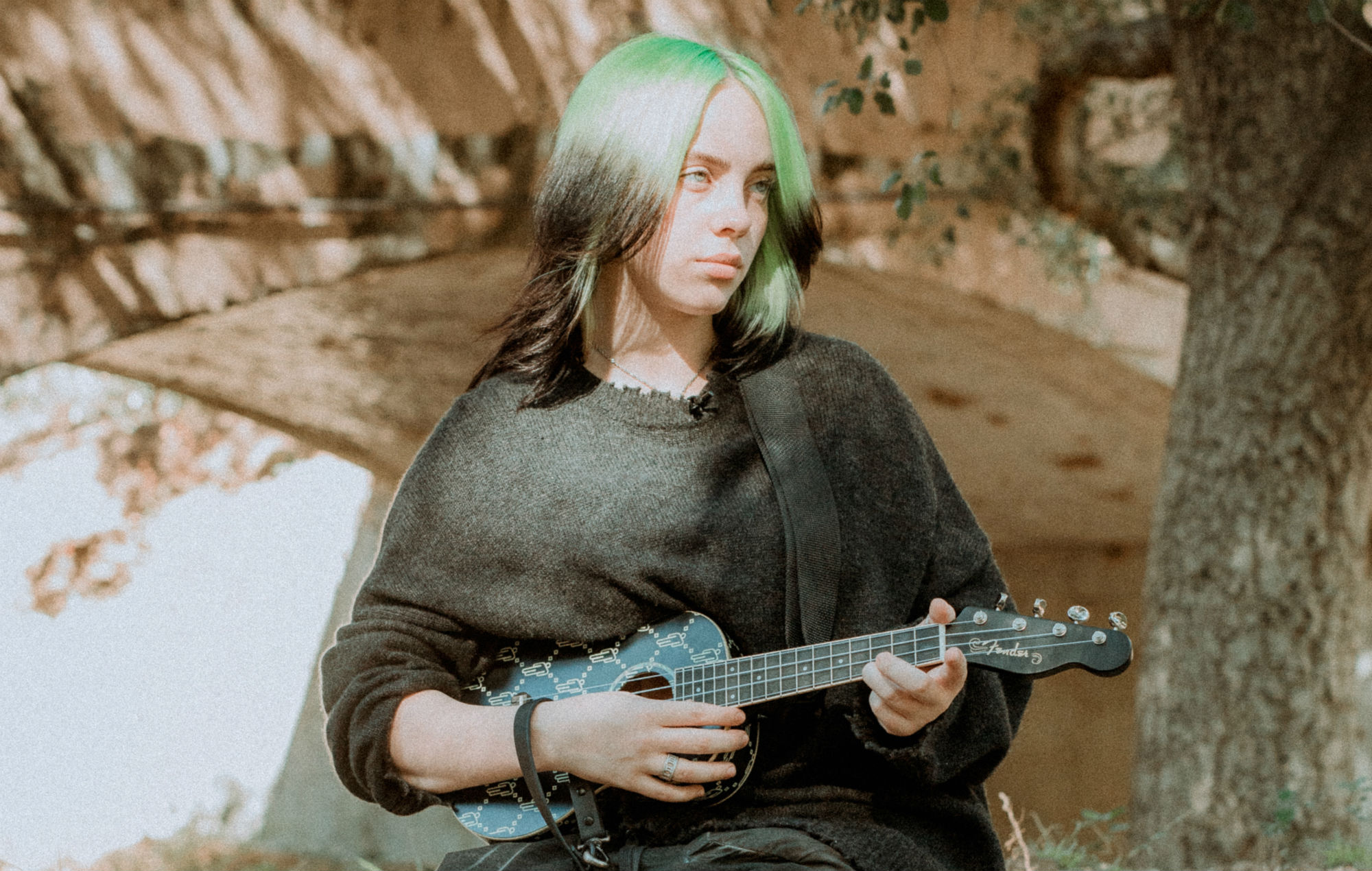 Billie Eilish with Fender Signature Ukulele Photo Credit Matty Vogel 2.'