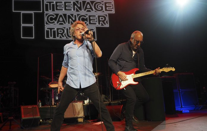 Roger Daltrey and Pete Townshend of The Who perform during Teenage Cancer Trust 15th Anniversary Year Concerts at Royal Albert Hall on March 26, 2015 in London, England. (Photo by Mick Hutson/Getty Images)