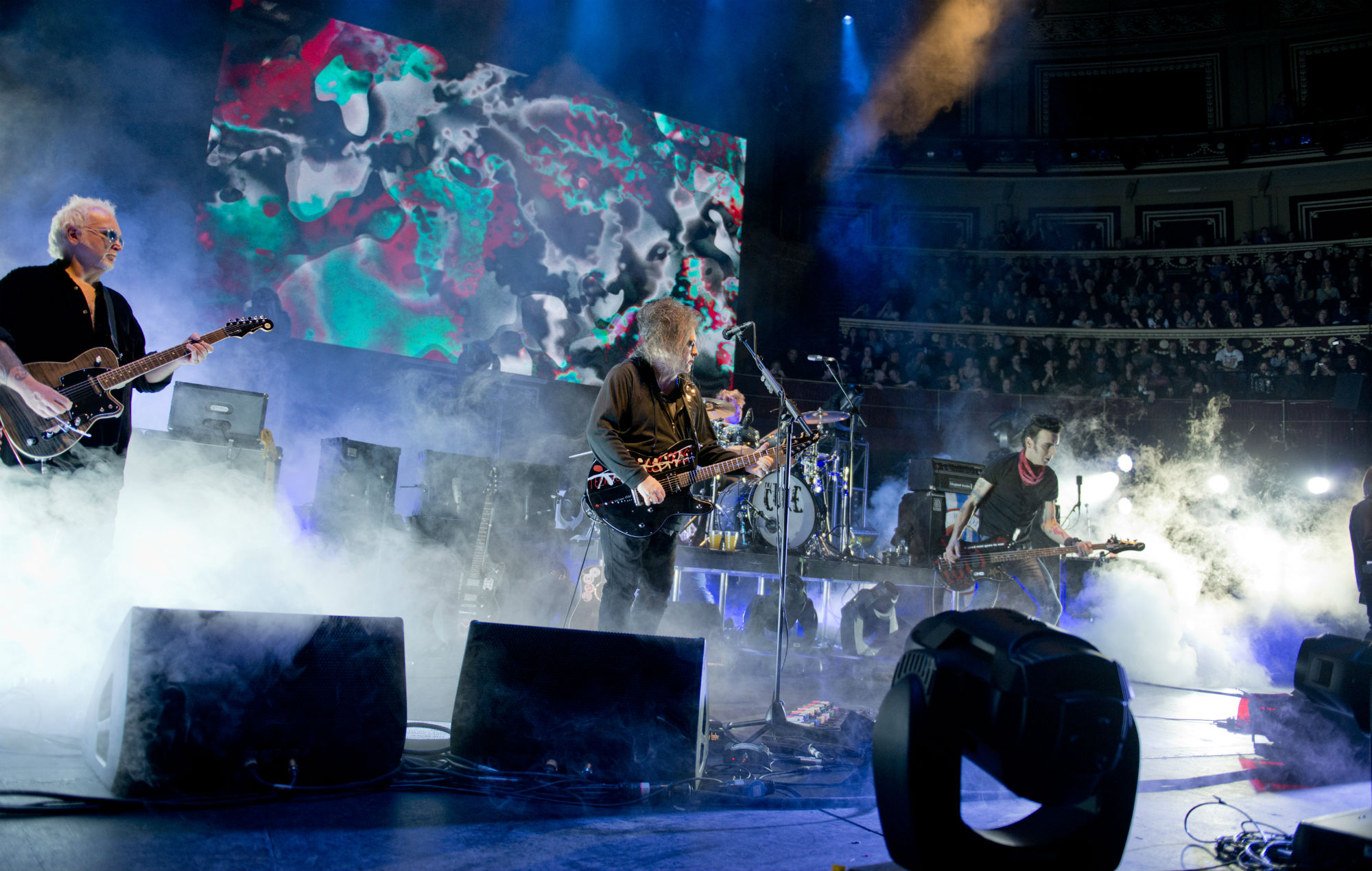 The Cure perform on stage at Royal Albert Hall on March 28, 2014 in London, United Kingdom. (Photo by Gaelle Beri/Redferns via Getty Images