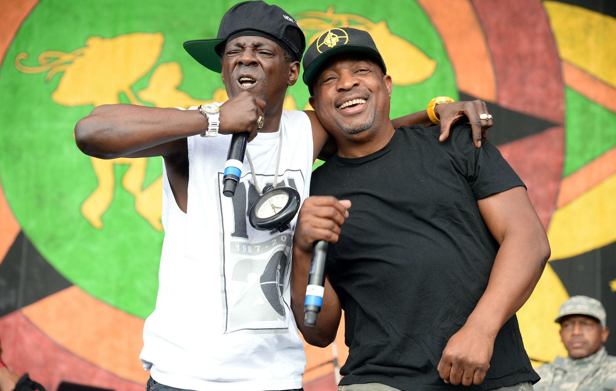Chuck D and Flavor Flav of Public Enemy (Photo by Jeff Kravitz/FilmMagic)