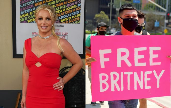 britney spears free britney protest credit getty jon kopaloff matt winkelmeyer