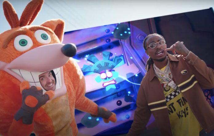 Crash Bandicoot and Quavo