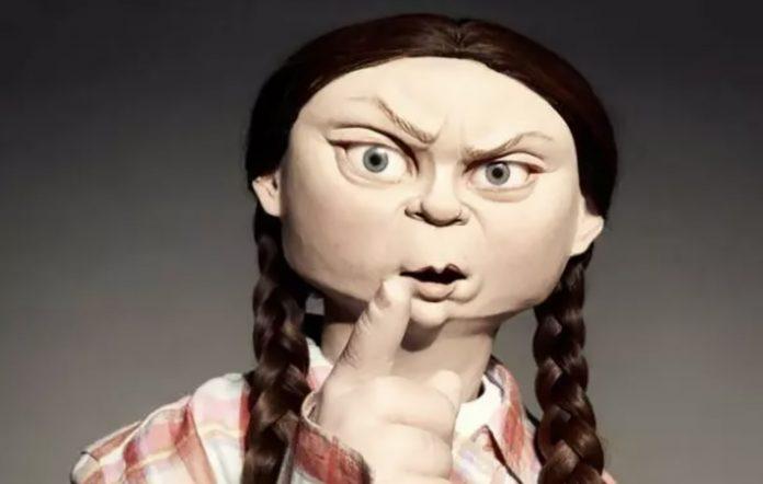Greta Thunberg Spitting Image