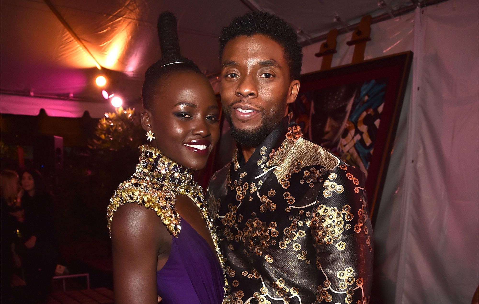 Lupita Nyong'o Chadwick Boseman