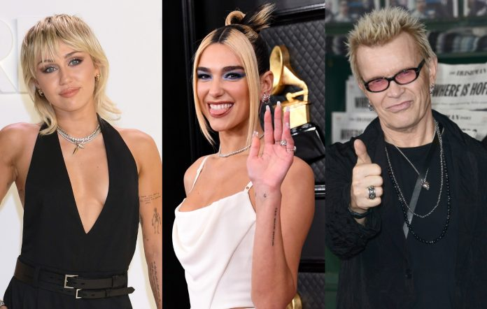 Miley Cyrus says she worked with Dua Lipa and Billy Idol on her new album