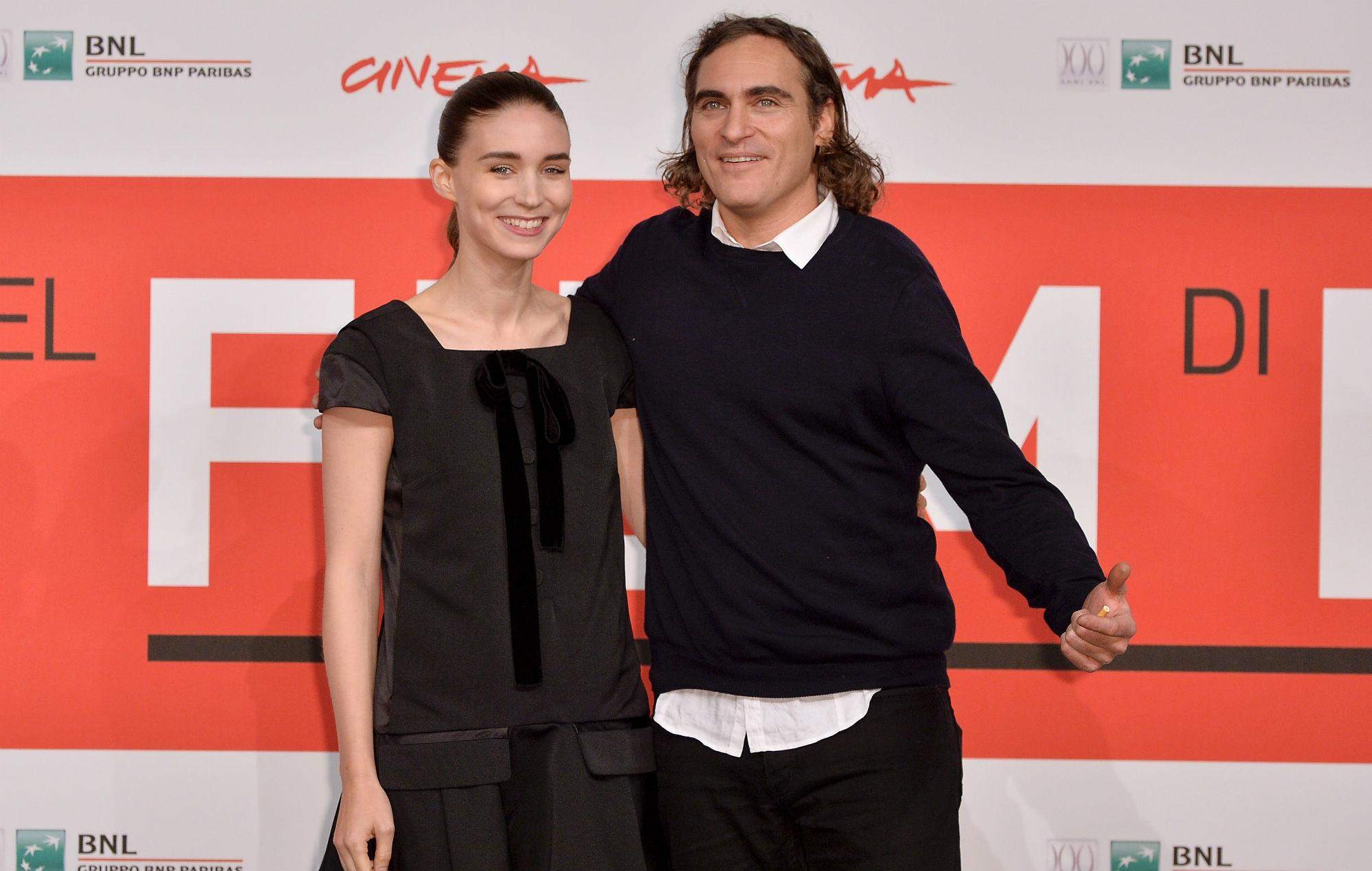 "Joaquin Phoenix and Rooney Mara ""welcome baby boy"" and ..."