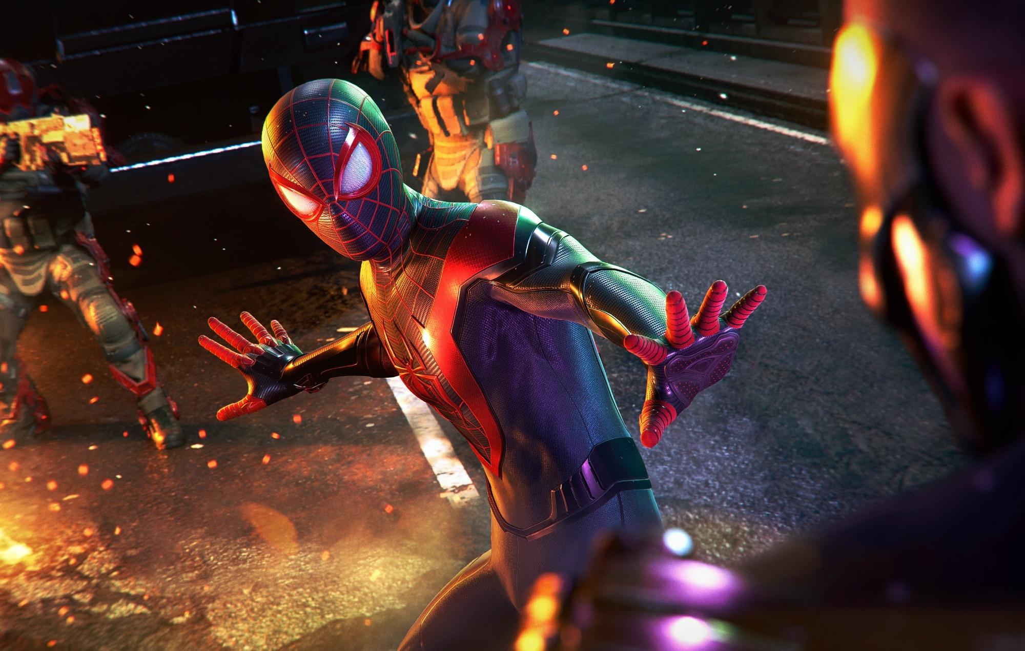 Get Spiderman Into The Spider Verse Miles Logo Background
