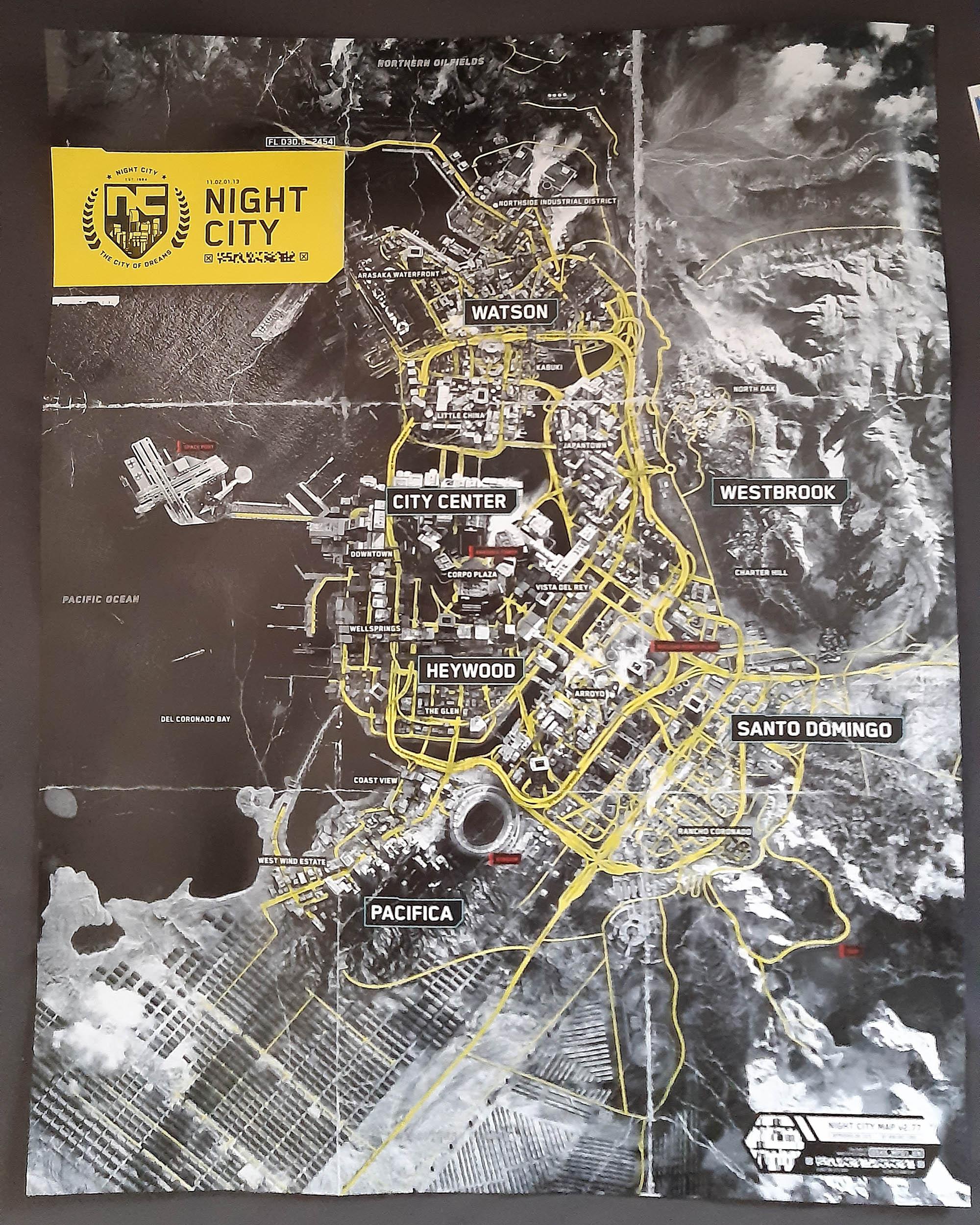 Cyberpunk 2077 leaked map