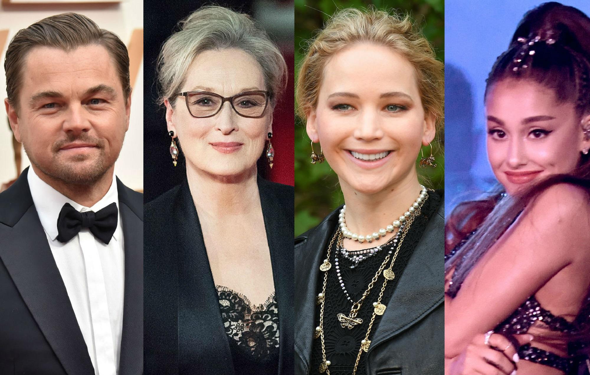 Leonardo DiCaprio, Meryl Streep, Jennifer Lawrence and Ariana Grande