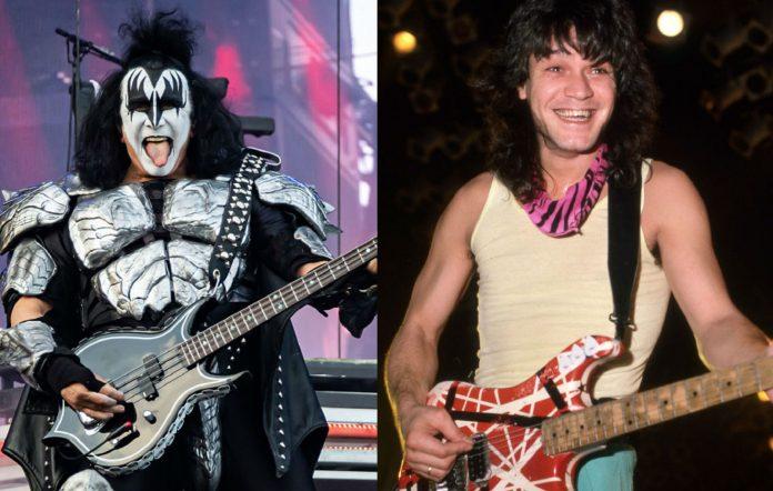 Gene Simmons and Eddie Van Halen