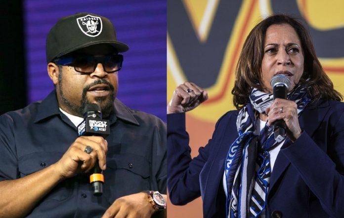 Ice Cube and Kamala Harris