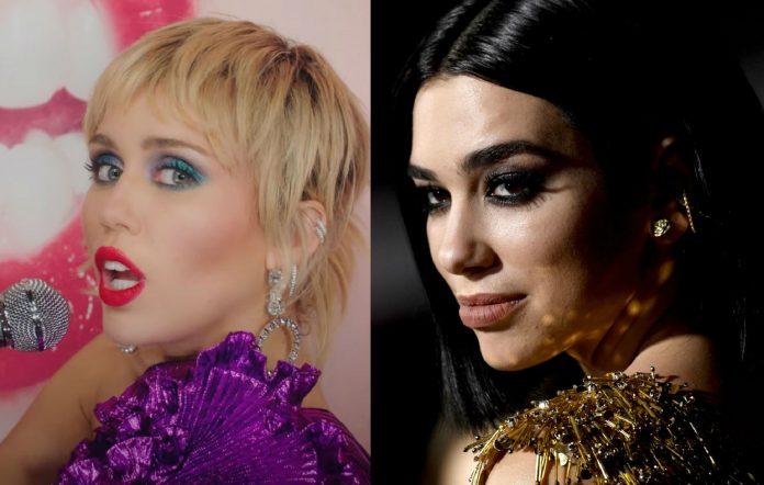 Miley Cyrus and Dua Lipa