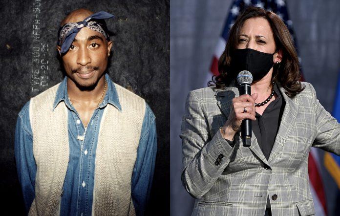 Tupac Shakur and Kamala Harris