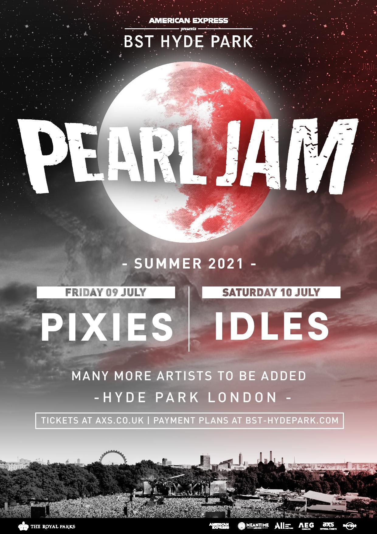 Pearl Jam BST Hyde Park
