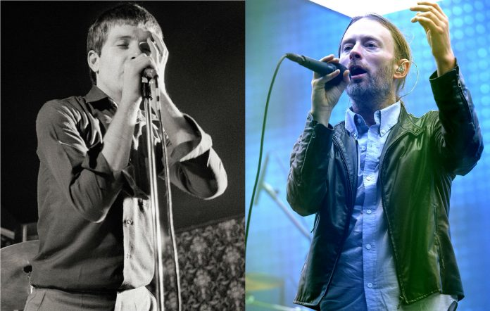 Joy Division's Ian Curtis and Radiohead's Thom Yorke. Credit: Getty