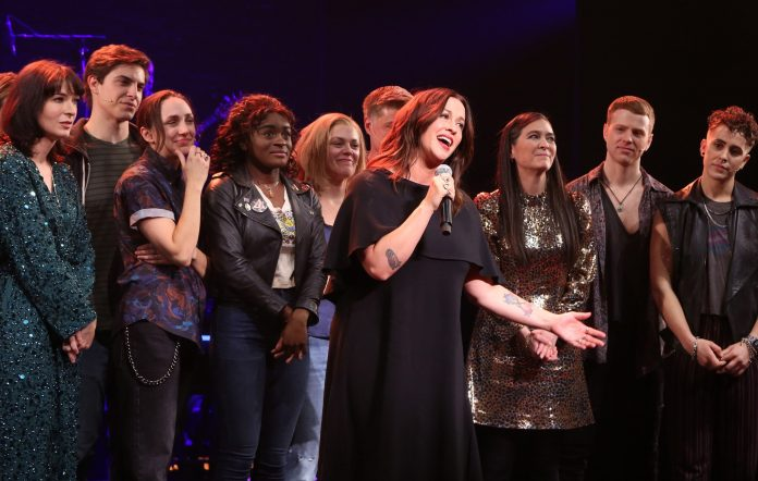 Alanis Morissette with the Broadway company of 'Jagged Little Pill'.